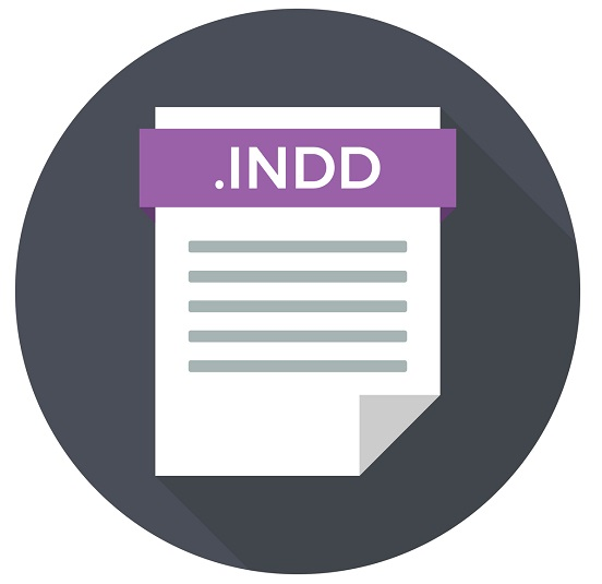 A picture of the INDD file icon.