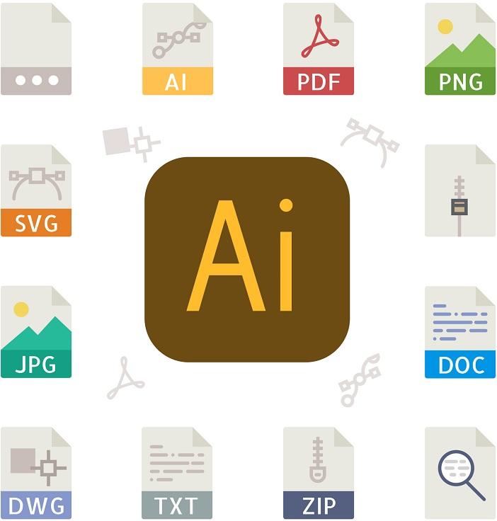 A picture of the AI file icon.