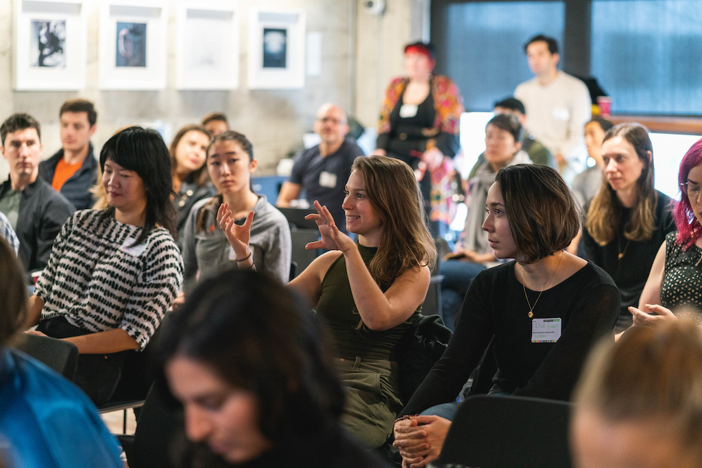 A photo of the audience at the Creative Morning.