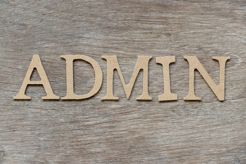 A block of letters that read 'admin'.