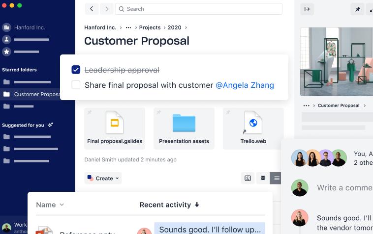 A screenshot of the Business Dropbox version.
