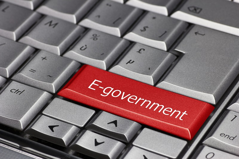 A keyboard that has an 'E-government' key.