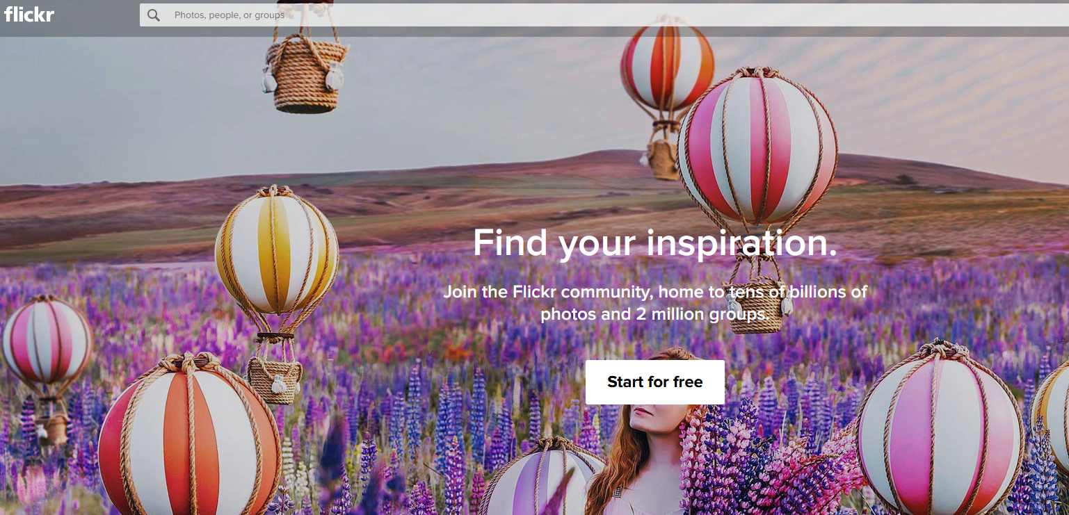 The Flickr website.