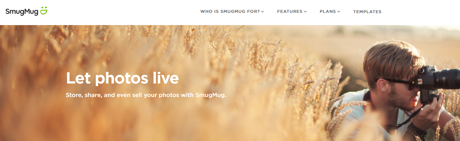 The SmugMug website.