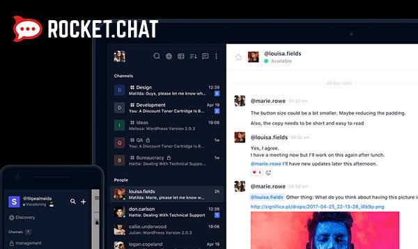 Screenshot of Rocket Chat