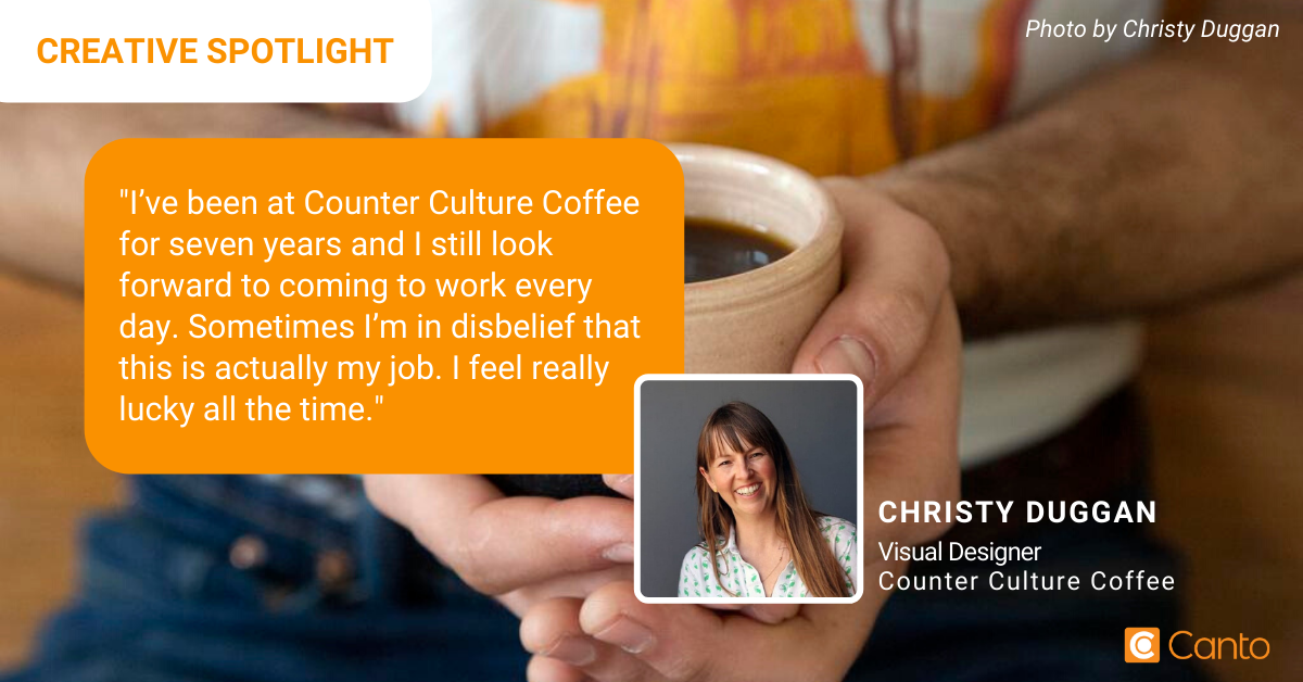 Christy Duggan, Visual Designer of Counter Culture Coffee.