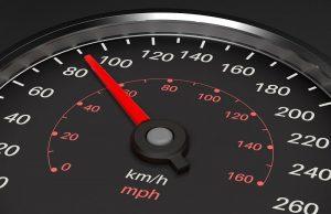 Die Abbildung eines Tachometers.