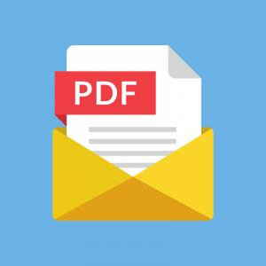 Ein animiertes Symbol der PDF-Dokumentdatei.