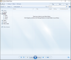 Ein Screenshot des Windows Media Players, der eine Datei im MP4A-Audioformat anzeigt.