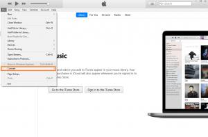 Ein Screenshot von iTunes.