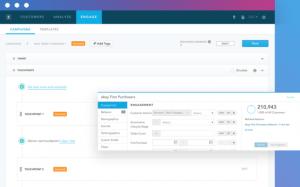 Ein Screenshot der Benutzeroberfläche der E-Commerce-Marketing-Software von Zaius, die zur Marketingtechnologie zählt.