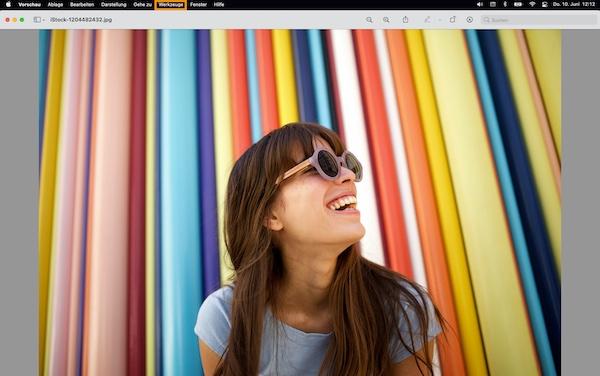 Das Menü 'Werkzeuge' auf dem Mac.