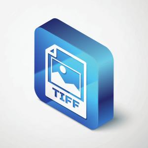 Eine Abbildung des Dateisymbols für das TIFF-Bildformat.