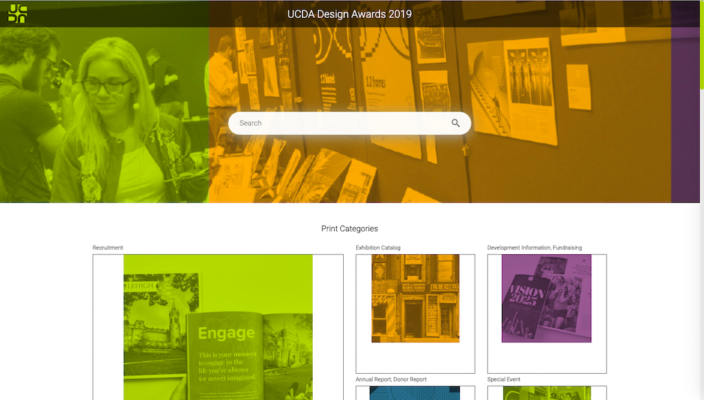 The Canto portal of the University and College Design Association (UCDA).
