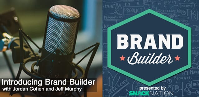 The 'Brand Builder' podcast advertisement.