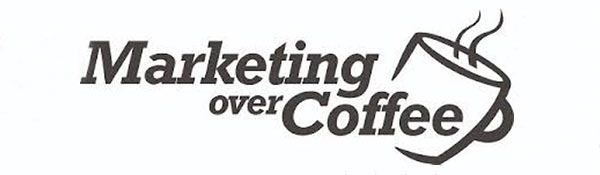 The 'Marketing Over Coffee' podcast logo.