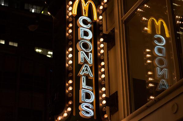 A McDonald's street sign.