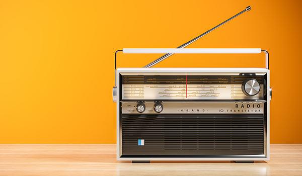 An old-fashioned radio.