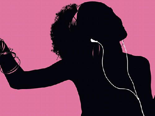 An iPod advertisement.