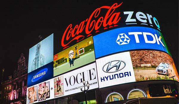 A modern billboard.