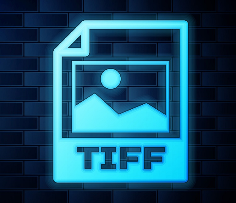 A neon TIFF file icon.