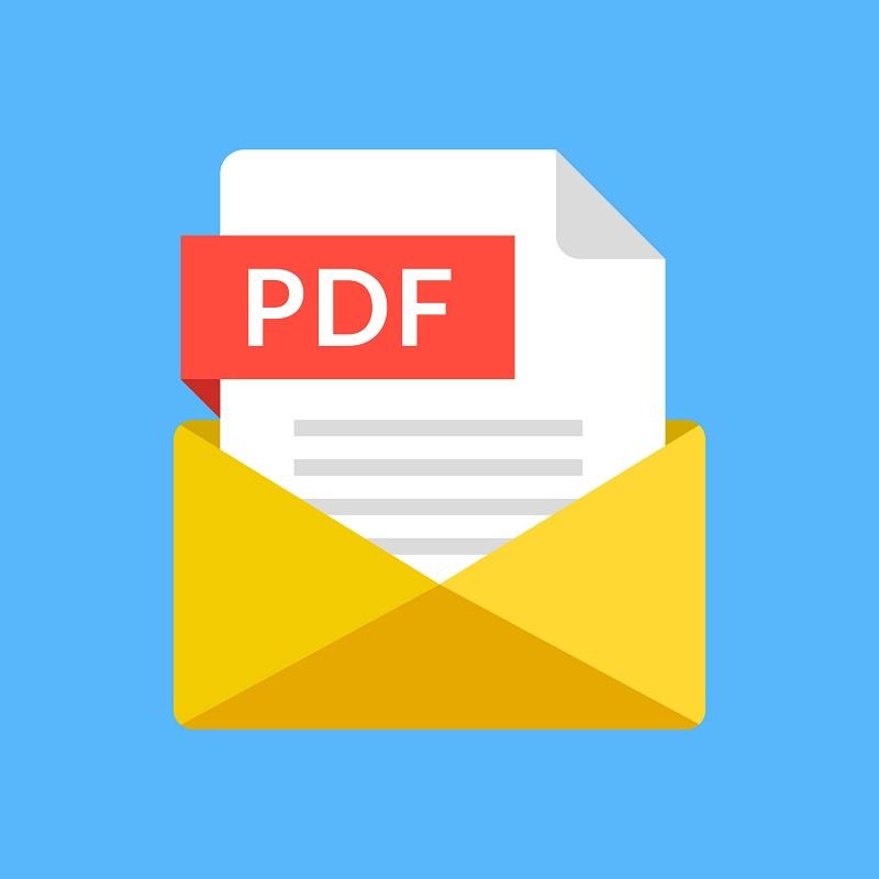 A picture of the PDF file icon.