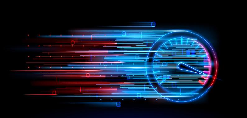A speedometer undergoing change.