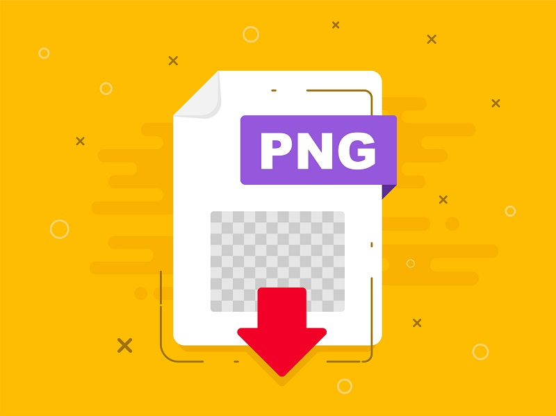 A picture of the PNG file icon.