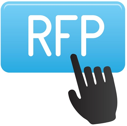 The RFP icon being touched by a digital hand.