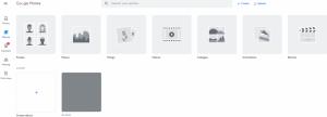 Ein Screenshot von Google Fotos, einer Anwendung zum Bilder einbetten.