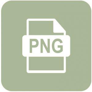 Eine Abbildung des Logos für das PNG-Bilddateiformat.