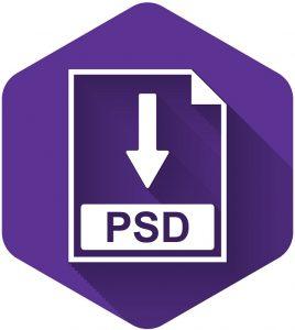 Eine Abbildung des Logos für das PSD-Bilddateiformat.