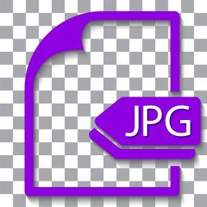 Eine Abbildung des Logos für das JPG-Bilddateiformat.