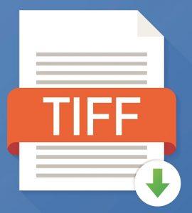 Eine Abbildung des Logos für das TIFF-Bilddateiformat.