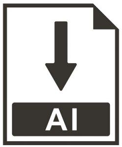 Eine Abbildung des Logos für das AI-Bilddateiformat.