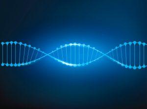 Digitale Darstellung einer DNA-Sequenz.