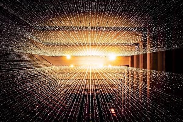 Digitale Darstellung von Datenströmen.