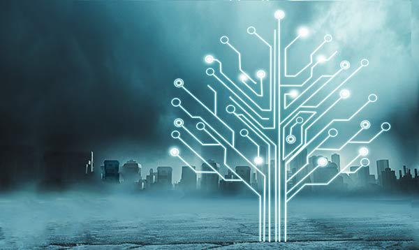 Eine digitale Baumstruktur, die die Data Lineage symbolisiert.