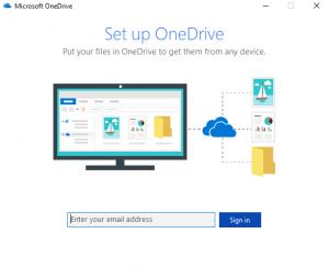 Ein Screenshot der Konfigurationsseite von Microsoft One Drive.