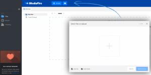 Ein Screenshot der Benutzeroberfläche von MediaFire.