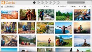Ein Screenshot der Benutzeroberfläche des DAM-Systems Canto, einer der vielseitigsten iCloud-Alternativen.