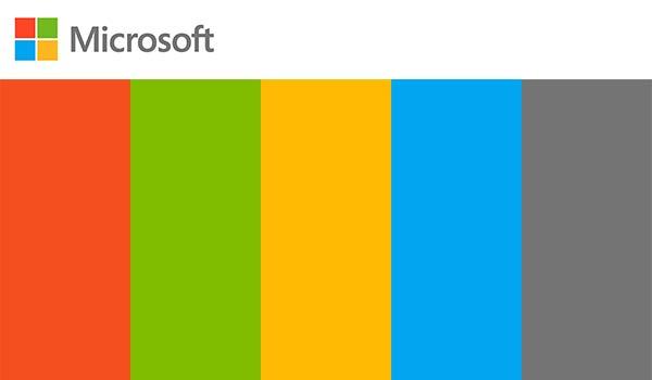 Das Farbschema von Microsoft.