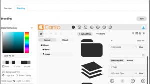Ein Screenshot der Benutzeroberfläche des DAM-Systems von Canto, einer der OneDrive-Alternativen.