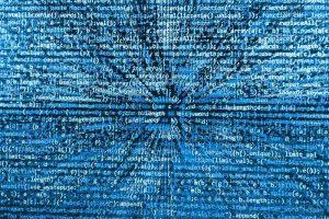 Eine Abbildung sich bewegender digitaler Sprache.