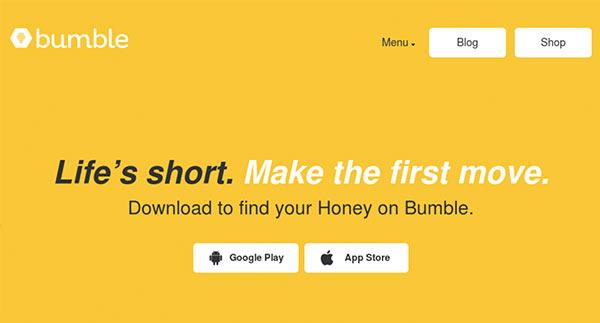 A screenshot of the Bumble app interface.