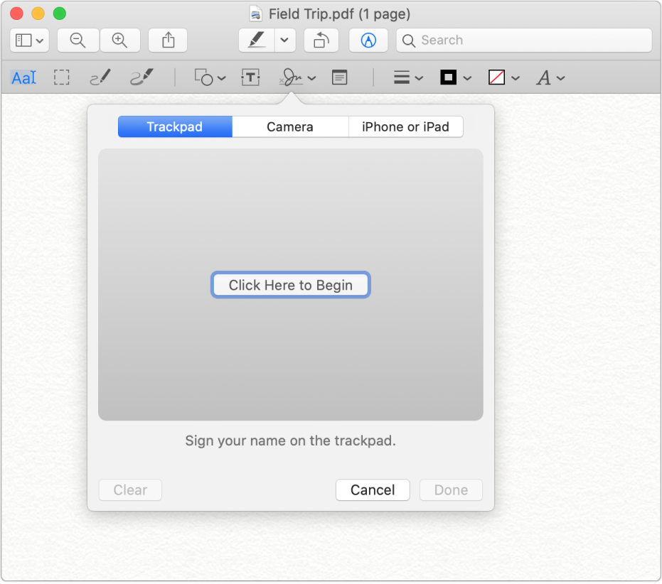 A picture of the MAC Preview interface.