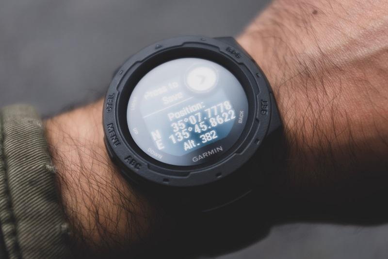 A watch measuring speed.
