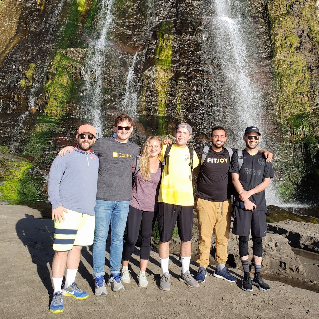 Canto employees on a hiking trip.