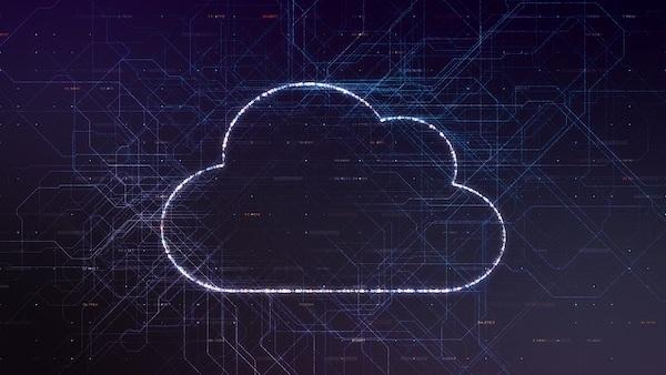Darstellung einer digitalen Wolke, die symbolisch für Cloud-Speicher steht.
