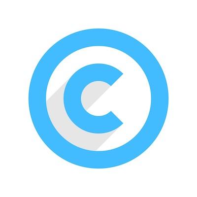 Das Copyright-Logo, das symbolisch für den Sicherheitsaspekt steht, der sich mithilfe von Metadaten umsetzen lässt.